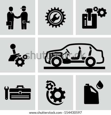 car transmission  gearbox icons