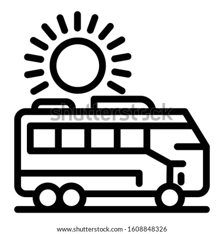 Car trip icon. Outline car trip vector icon for web design isolated on white background