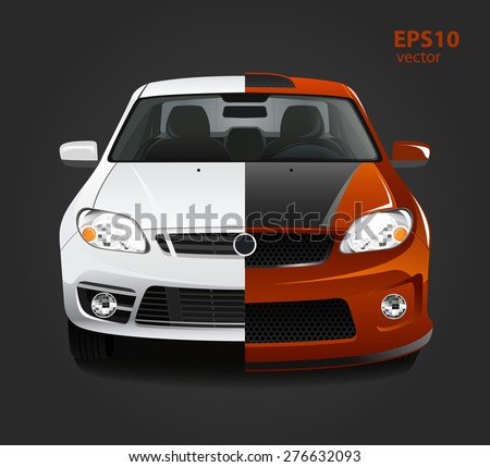 car tuning color 3d creative