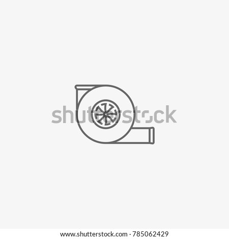car turbine vector icon