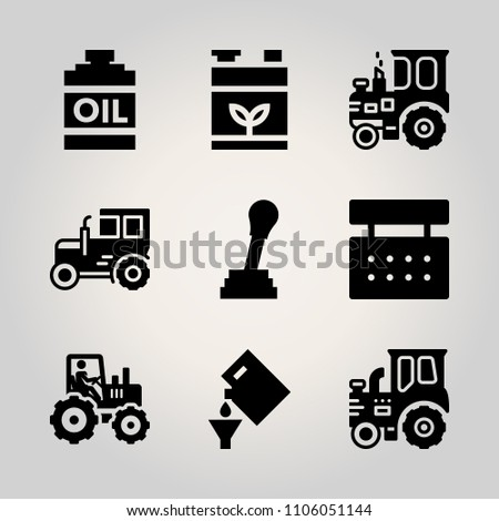 car utensils icon set city