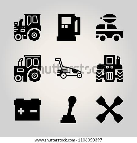 car utensils icon set tilt