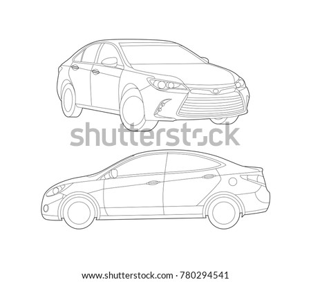 Car vector, Car set, Car icon, Auto vector illustration, Technology, Transportation illustration, Auto illustration, Automobile