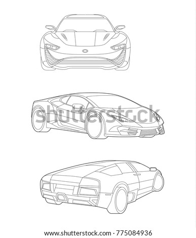 car vector  car set  sport car