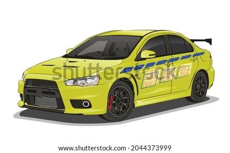 car vector decal modify template
