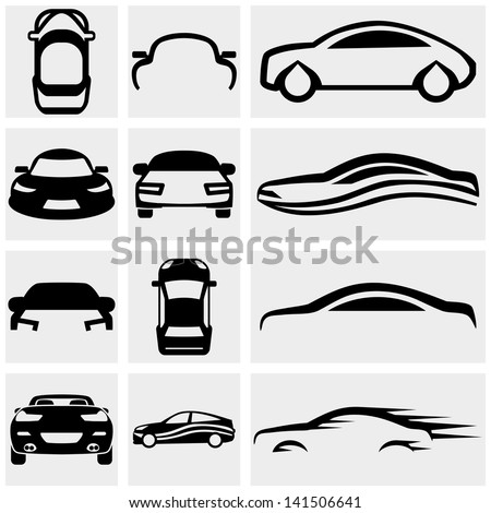 Car Vector Icon Car vector icon set on gray