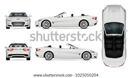 car vector mock up isolated