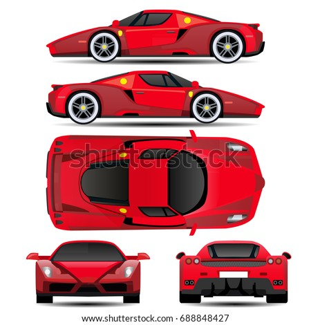 car vector template on