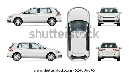 car vector template on white
