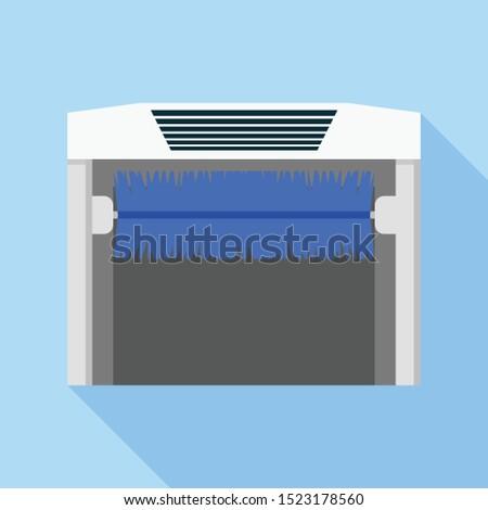 Car wash automatic brush icon. Flat illustration of car wash automatic brush vector icon for web design