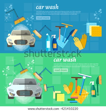 car wash banner automatic car
