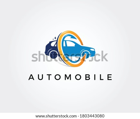 car wash logo. Can be used for automotive companies.
