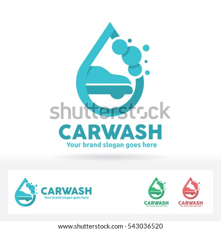 stock-vector-car-wash-logo-car-shampoo-bubble-and-water-drop-symbol