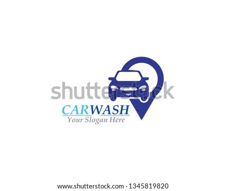 Car Wash logo design template vector