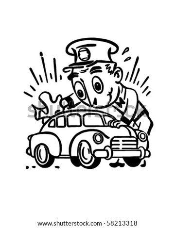Car Wash - Retro Clip Art