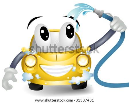cartoon car washing. stock vector : Car Wash -