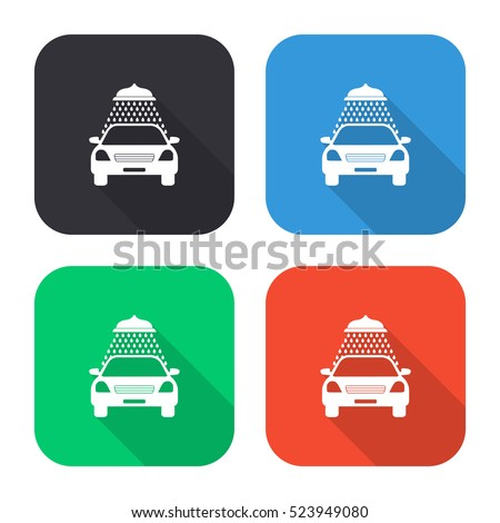 car wash vector icon   colored