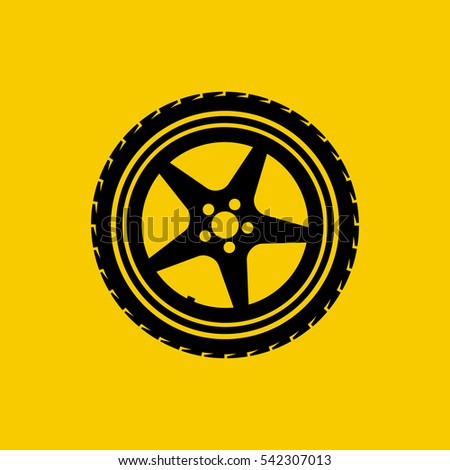 car wheel icon isolated on