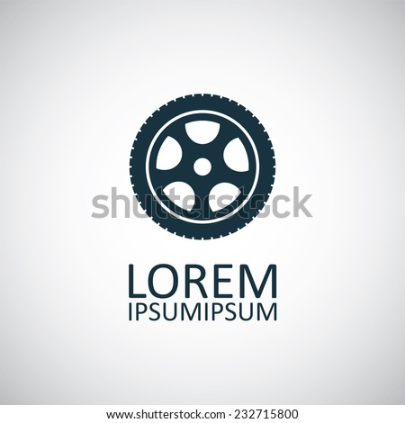 car wheel icon vector car