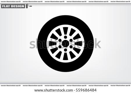 car wheel icon vector