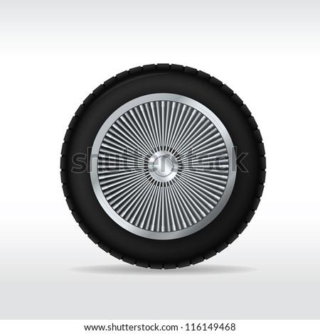 Car wheel. Vector illustration