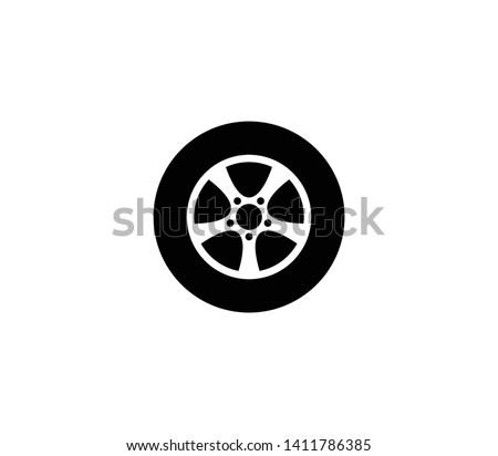 Car wheel vector isolated flat illustration. Car wheel icon