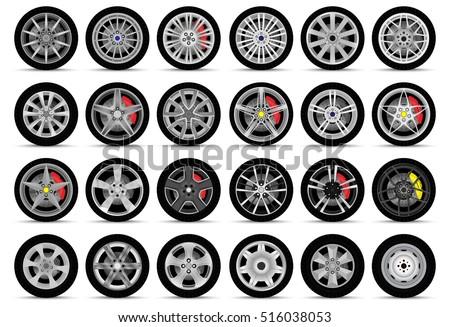 car wheels set