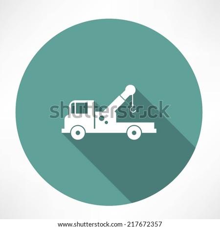 car with a crane icon