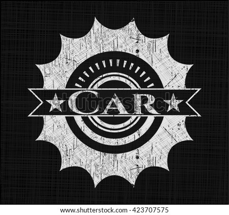 Car with chalkboard texture