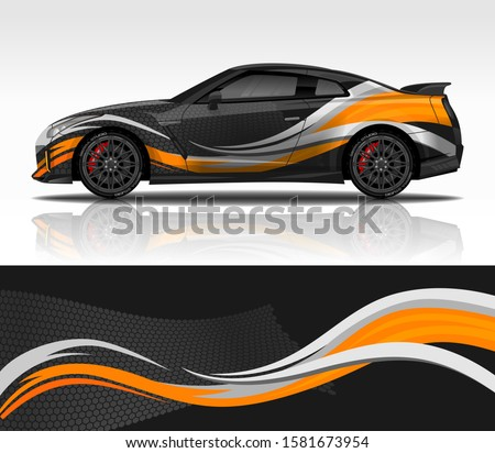 car wrap decal design vector
