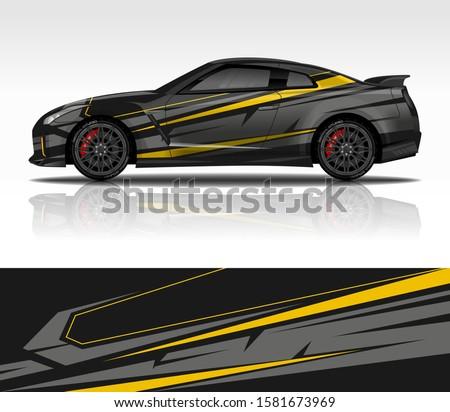 car wrap decal design vector