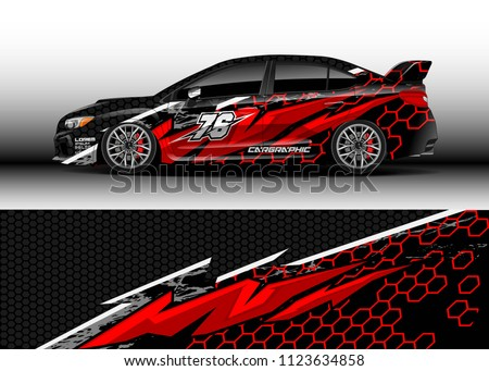 Car wrap graphic racing abstract background for wrap and vinyl sticker