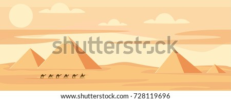 caravan of camels near egypt