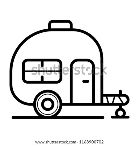 caravan trailer home icon vector