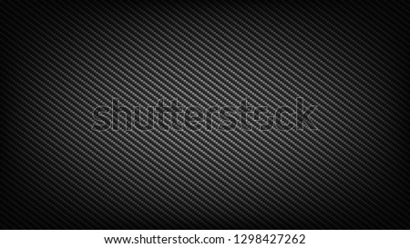 Carbon fiber wide screen background. Technological and science backdrop.
