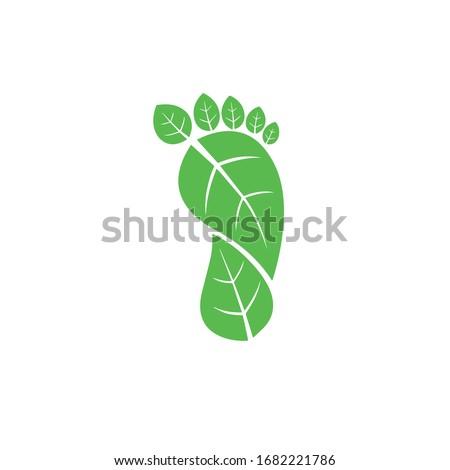 Carbon Footprint C02 vector symbol icon  ストックフォト ©