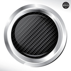 Carbon kevlar button