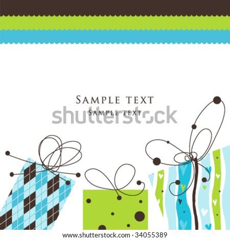 Card - stock vector