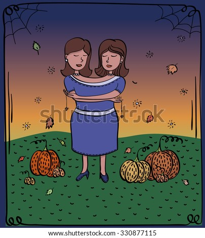 card card halloween twins