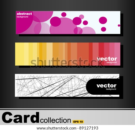 Card collection with various colorful backgrounds