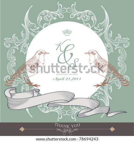 stock vector card cover design wedding card