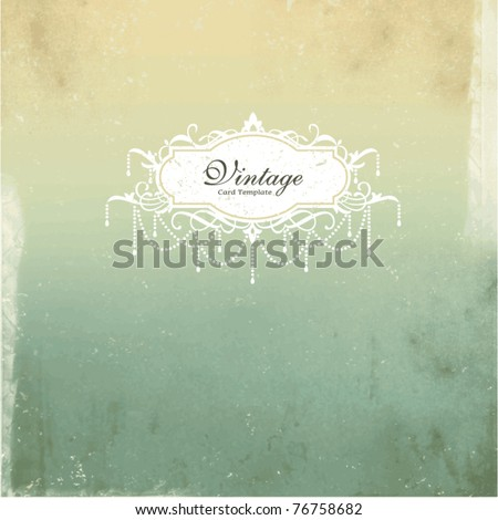 card design with vintage background