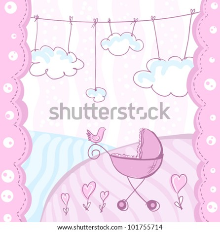 Card for baby arrival.