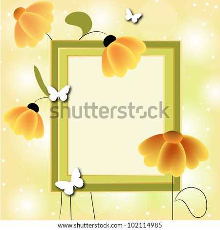 Card for greeting or invitation on the vintage background. Vector greeting card