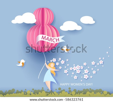 card for 8 march women's day