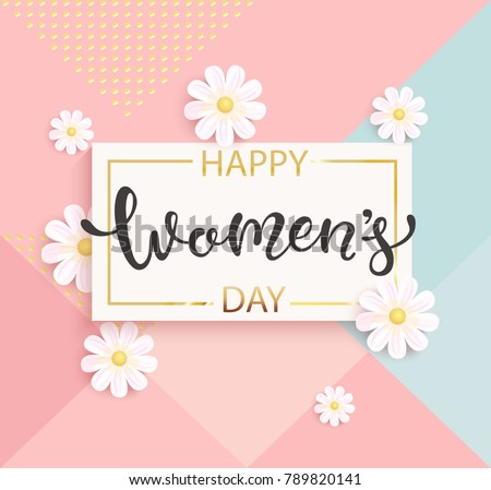 card for women's day with