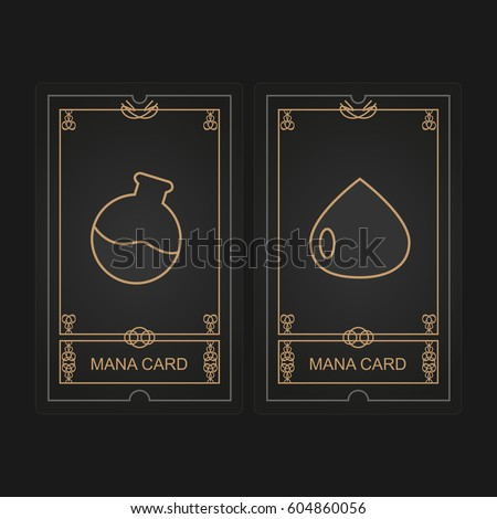 card game mana vector