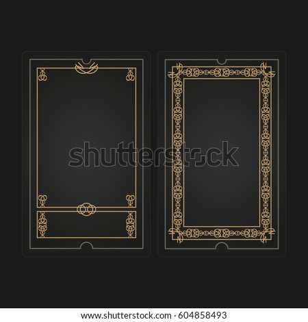 card game template vector