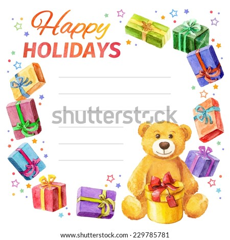 card happy holidays frame of