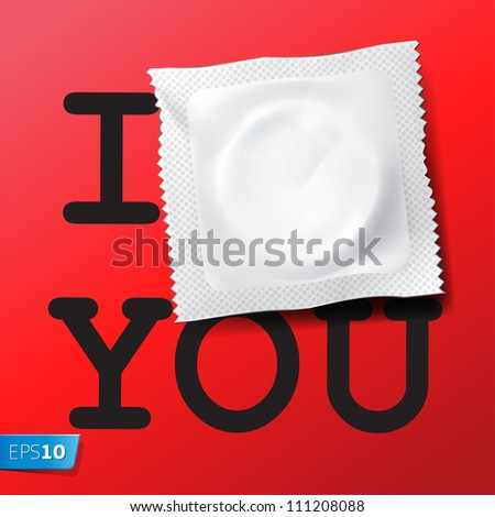Card I love you, vector Eps10 illustration. - stock vector